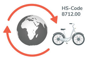 Die Tarifnummer / HS-Code / CTN 8712.00 ist weltweit für Fahrräder gültig.