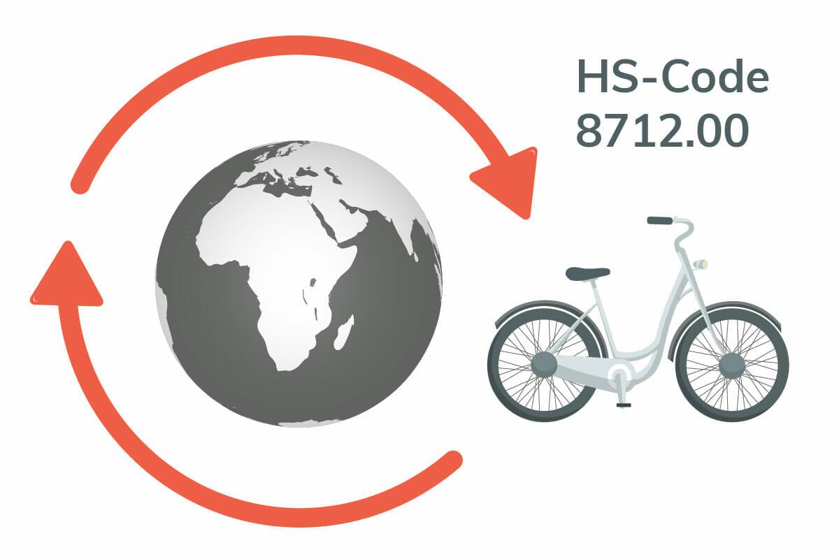 Die Zolltarifnummer / HS-Code / CTN 8712.00 ist weltweit für Fahrräder gültig.