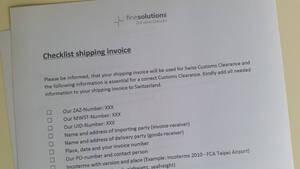 Checkliste Zollkosten senken im Einkauf Ausland englisch