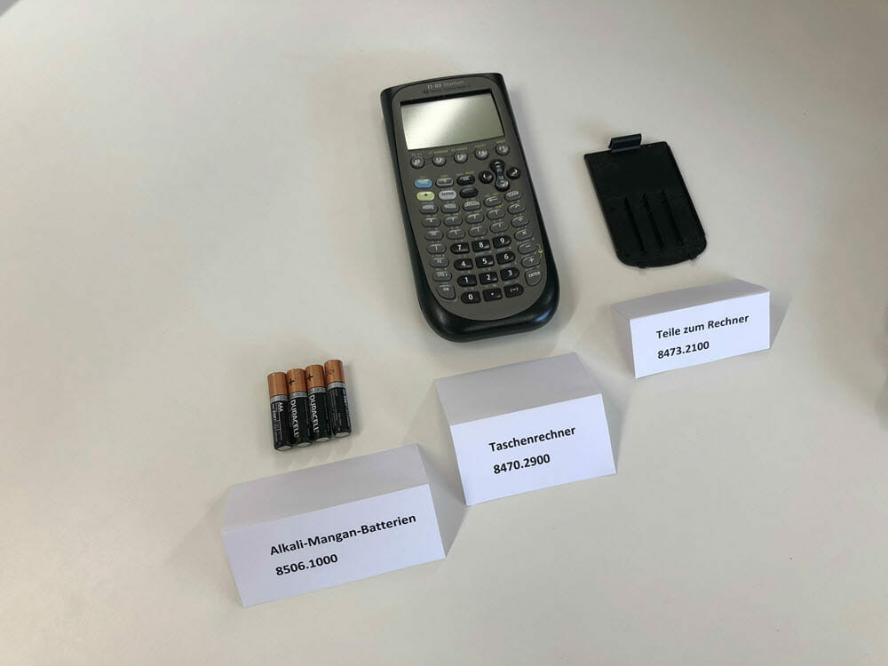 Zolltarifnummer Schweiz Ersatzteile Maschinenteile