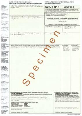 Das Formular EUR.1 Warenverkehrsbescheinigung (WVB)