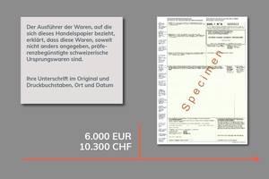 Wertgrenze Präferenznachweis Ursprungserklärung EUR.1