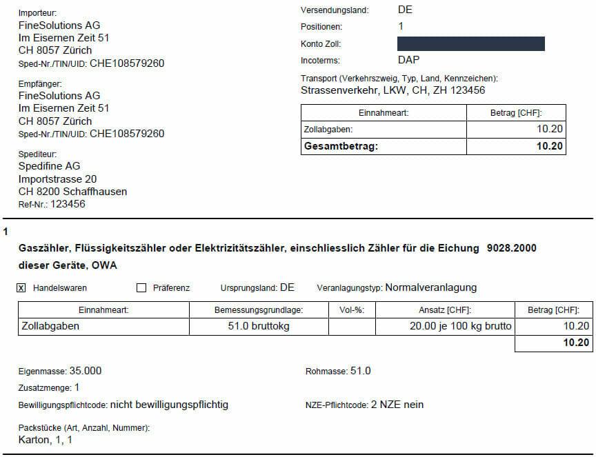 veranlagungsverfgung evv import hufiges beispiel - Praferenzkalkulation Beispiel