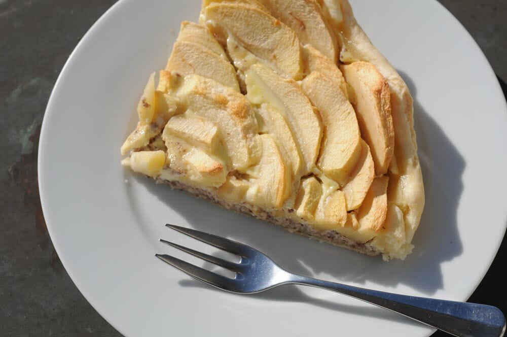 Die Äpfel mit Präferenzeigenschaft werden zu Apfelkuchen verarbeitet.