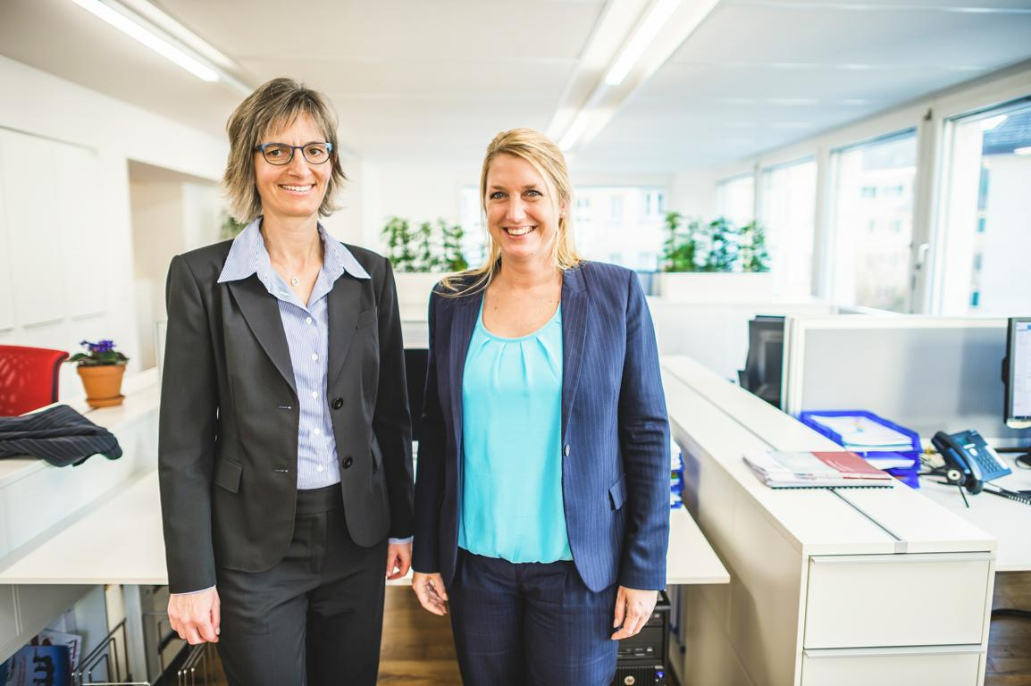 Corinne Müller und Lea Derendinger von FineSolutions