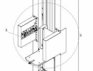 CAD-Zeichnung eines Maschinenteils