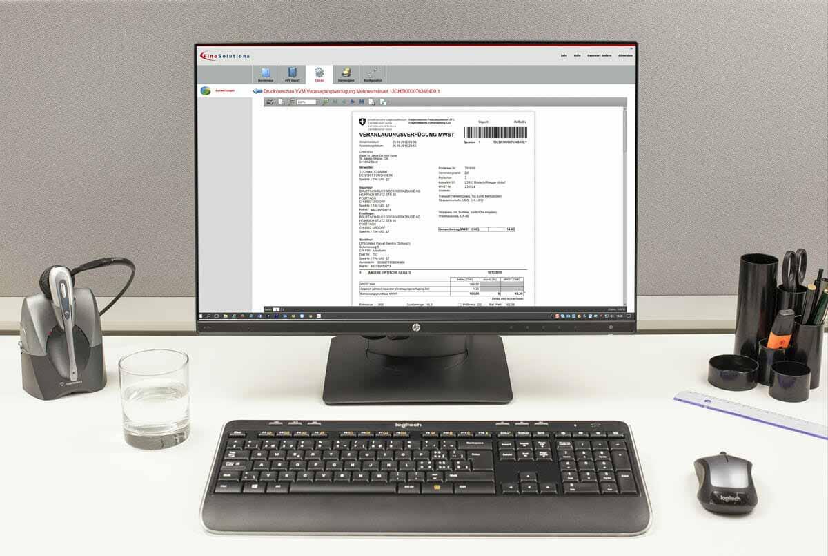 Abholen und Archivieren von Veranlagungsverfügungen eVVs mit finesolutions-Software ImpoWin