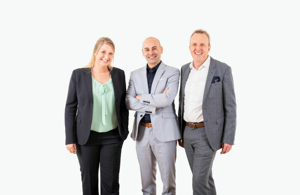 3 Personen Geschäftsleitung FineSolutions Derendinger Losurdo Eberhard