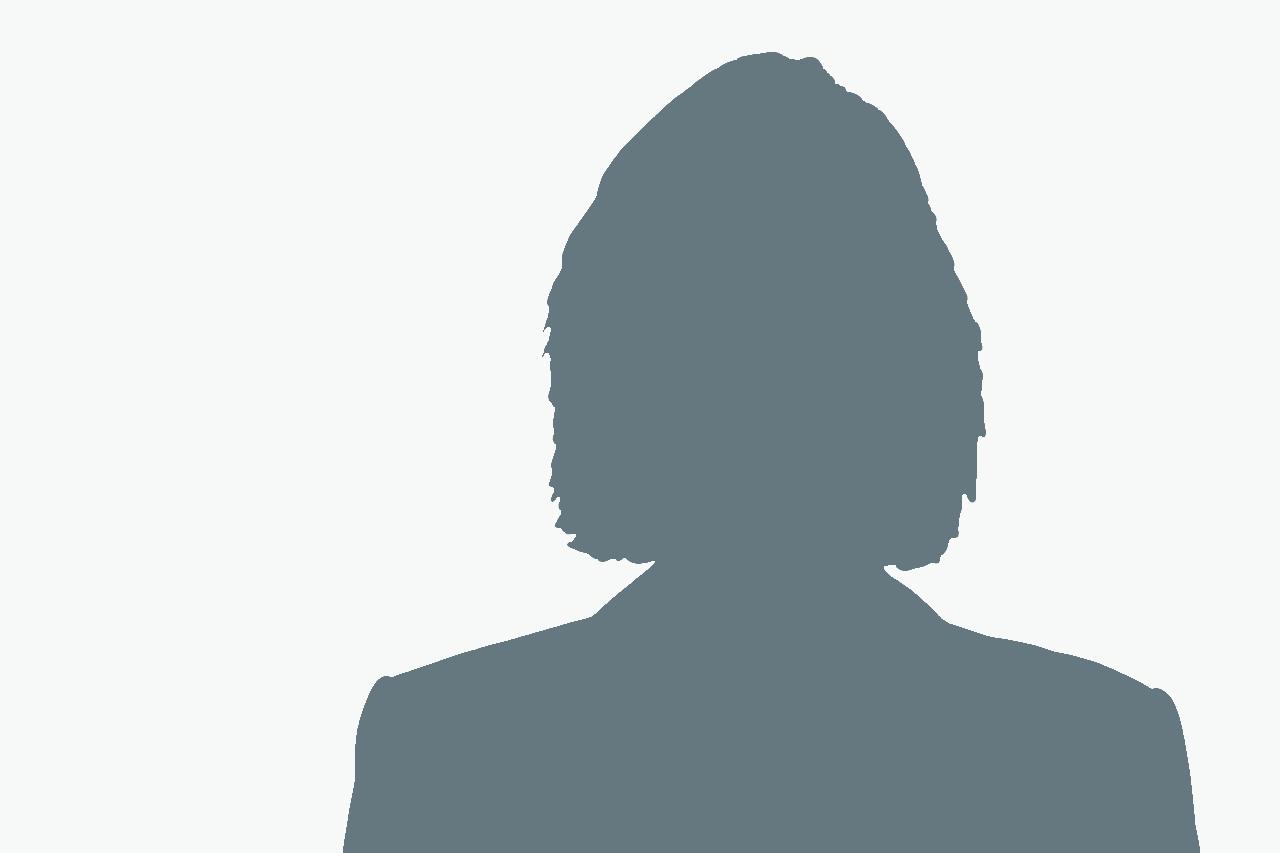 Silouette einer Frau mit weißem Hintergrund